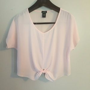 😎 Rue 21 pink sheer blouse. Size Small